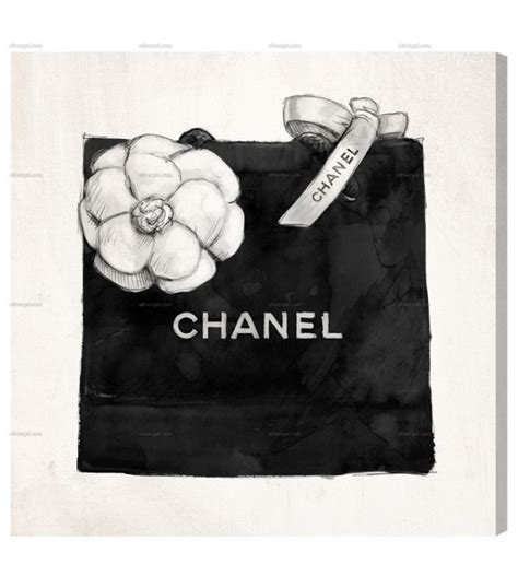 Home Decor Accent by Chanel Shopping Bag Wall Art Black Amp White