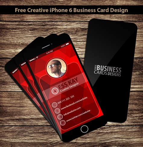 iphone business card template free 75 free business cards a graphic world