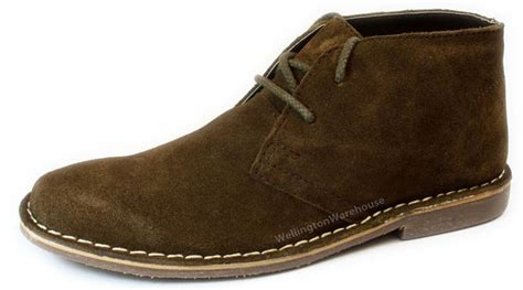 chocolate brown lace up mens suede leather
