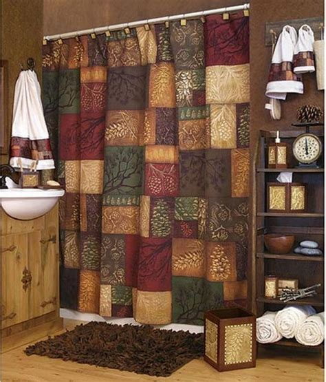 northwoods shower curtain lodge themed curtains mountain moose and bath set cabin