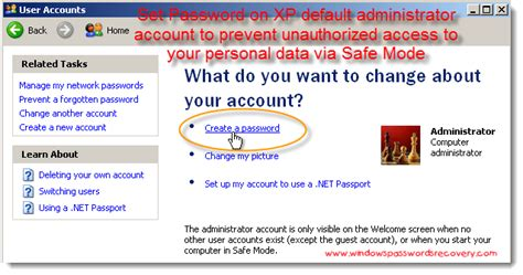 reset password in xp mode set a password for safe mode in windows xp computer forums