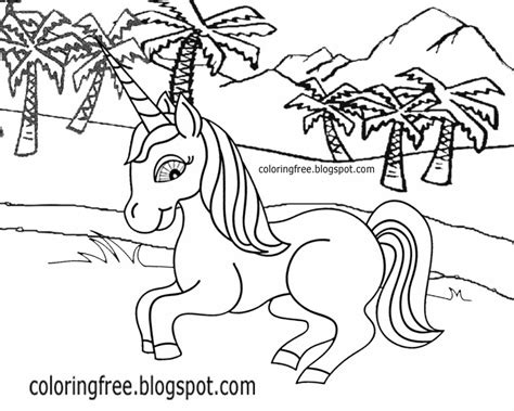 draw coloring book printable unicorn drawing mythical coloring book pictures