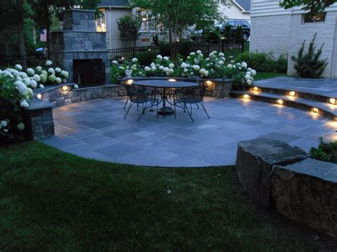 Patio Designs Ashburn Va Lighted Slate Patio With Fireplace Ashburn Va
