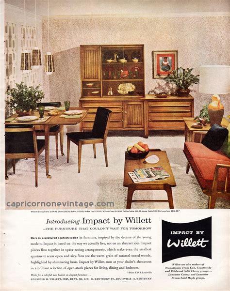 home decor ads 1957 impact by willett furniture magazine ad mid century
