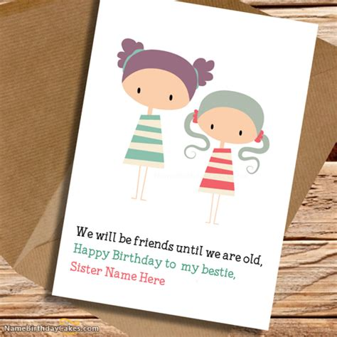 write name on happy birthday wishes cards for brother write name on cute birthday card for sister happy