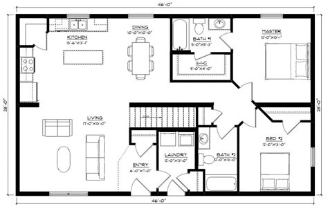 bighorn floor plans bighorn 1288 square foot ranch floor plan