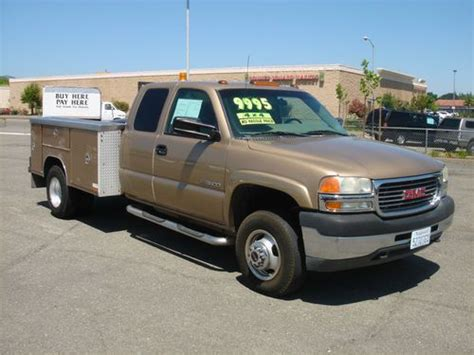 used gmc sierra classic 3500 extended cab pickup kelley blue book buy used 2001 gmc sierra 3500hd dually 4x4 extended cab utility truck no reserve in