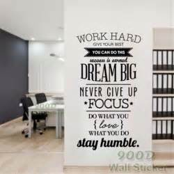 aliexpress com buy dream big inspiration quote wall diy wall stickers art decal mural home decor living room