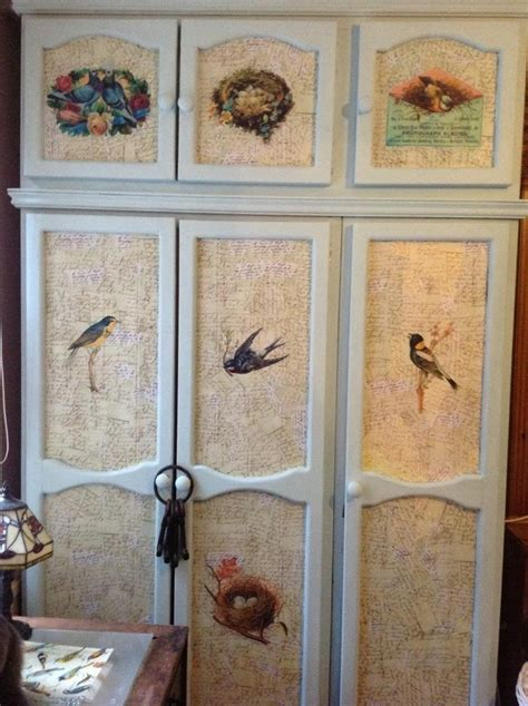 Decoupage Wardrobe - 86 best images about decoupage en muebles on