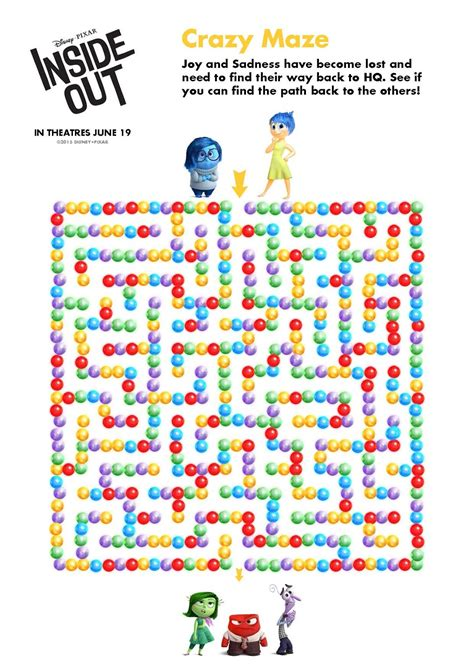 disney pixar inside out free printables candoitmom blog insideout print out activities nail