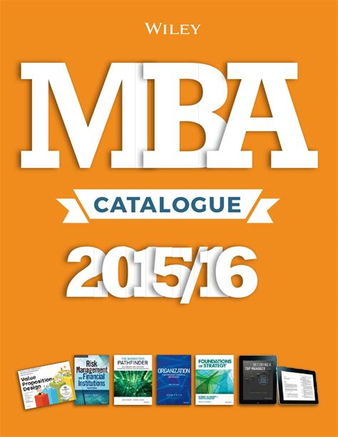 Mba Publishing by Mba Catalogue2015 By Wiley And Sons Issuu