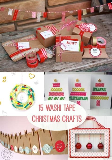 washi tape christmas craft 15 festive washi crafts diy