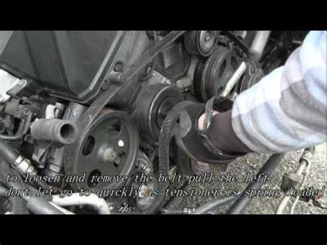 how to change a fan belt on a 2008 mini clubman video how to install replace serpentine belt tensioner