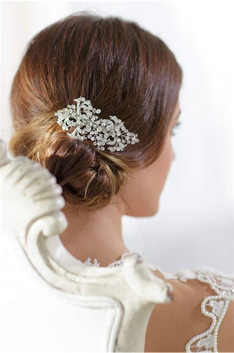 davids bridal hairstyles bridal comb with scroll detail pearls and crystal david