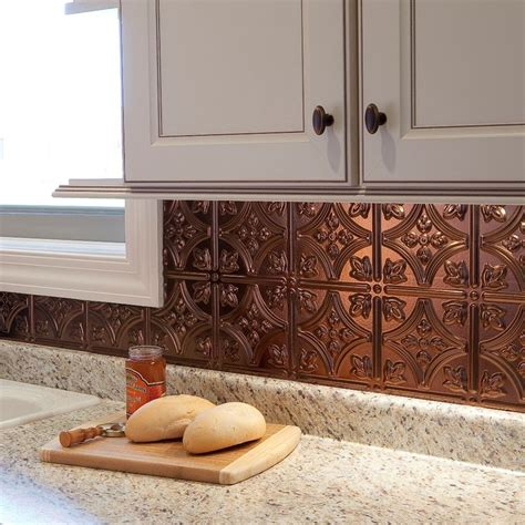 thermoplastic panels kitchen backsplash fasade 18 5 in x 24 5 in rubbed bronze thermoplastic