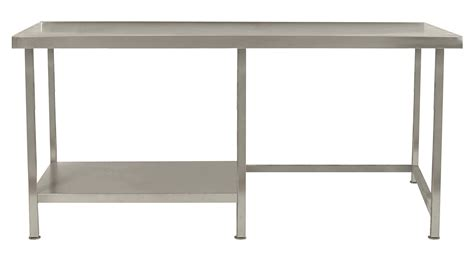 Valance With Panels Stainless Steel Table With Half Under Shelf Left Tabhl