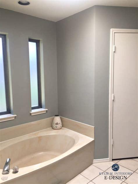 e design an almond bathroom gets a fresh paint colour