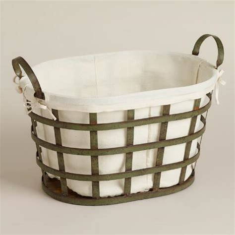 metal laundry skyler metal laundry basket world market