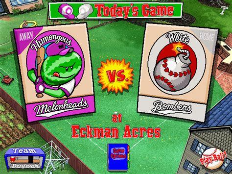 Backyard Baseball On Windows 10 Backyard Baseball Windows My Abandonware