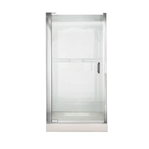 36 Inch Glass Shower Door American Standard 36 Inch W X 65 5 Inch H Frameless Continueous Hinge Pivot Shower Door In