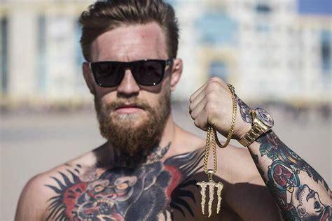 mcgregor tattoo pic ufc 189 headliner conor mcgregor signs
