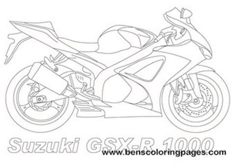 suzuki motorcycle coloring pages suzuki gsxr 1000 coloring page