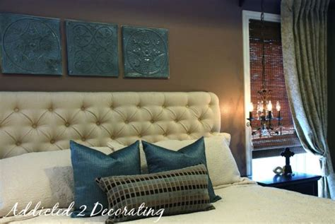 Picture Of Diy Diamond Tufted Upholstered Headboard Easy Diy Tufted Headboard