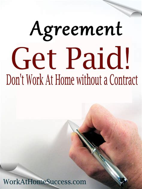 Work Online From Home And Get Paid - get paid don t work at home without a contract work at home success