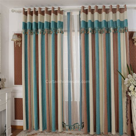 bedroom curtain patterns chenille stitching striped pattern room darkening curtain