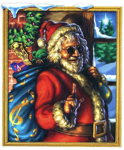 jerry garcia   grateful dead santa claus merry  flickr