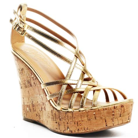 fergie s gold quiana wedge gold for 53 39 direct from
