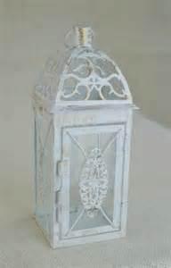 Lantern Table L No L001 Wedding 10 1 2 Inch Lantern Centerpiece Vintage Antique White Gold Wedding Decor