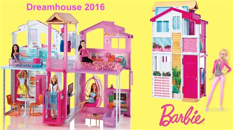 my barbie doll house tour barbie dreamhouse 2016 3 story townhouse unboxing and full house tour with barbie