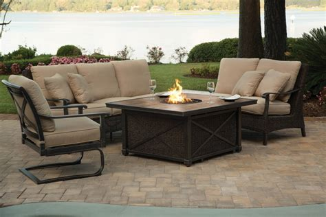 firepit set pin agio patio pit set on