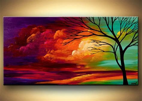 20 Beautiful Tree Paintings Free Premium Templates Canvas Painting Templates Free