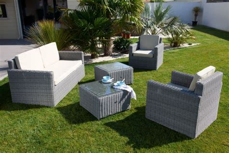 promo salon de jardin en resine mobilier de jardin resine tressee pas cher bricolage maison et d 233 coration