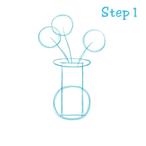 How To Draw Flowers In A Vase by Simple Flowers In A Vase Drawing Www Pixshark