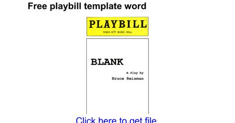 playbill template word best cover letter best resume exle apa