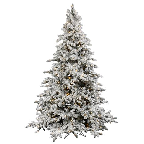 vickerman 7 5 flocked utica tree with 700 led italian lights