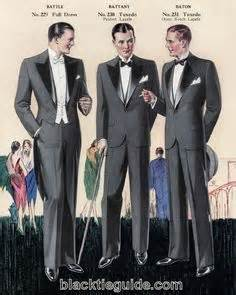 Evening fashions from a 1929 chicago tailoring company catalog