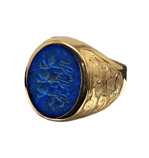 lapis lazuli badge three lions gold plated silver