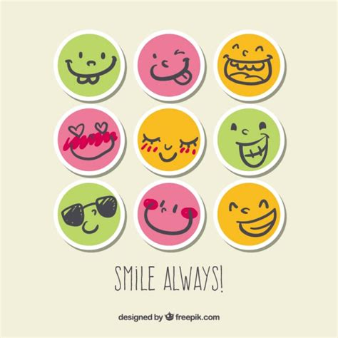 Smiley Sticker Free Download by Smile Stickers Vector Premium Download
