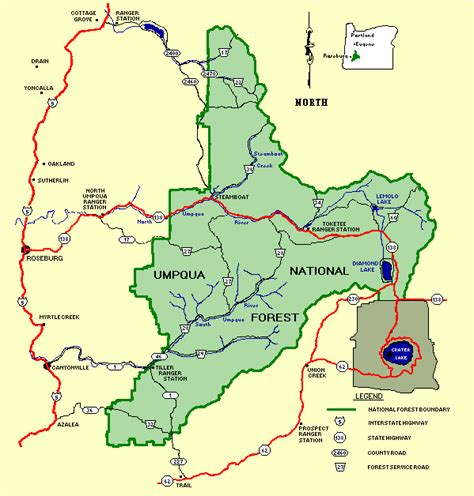 map of oregon forests northwest hiker presents hiking in the umpqua national