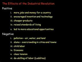 Industrial Revolution Positive And Negative Effects Essay by The Effects Of The Industrial Revolution In Picture Analysis Activity World History