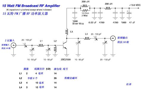 rf transistor lifier design and matching networks 2sc2539 fm rf lifier