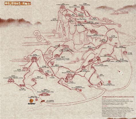 hiking maps mt emei hiking map mt emei mappery