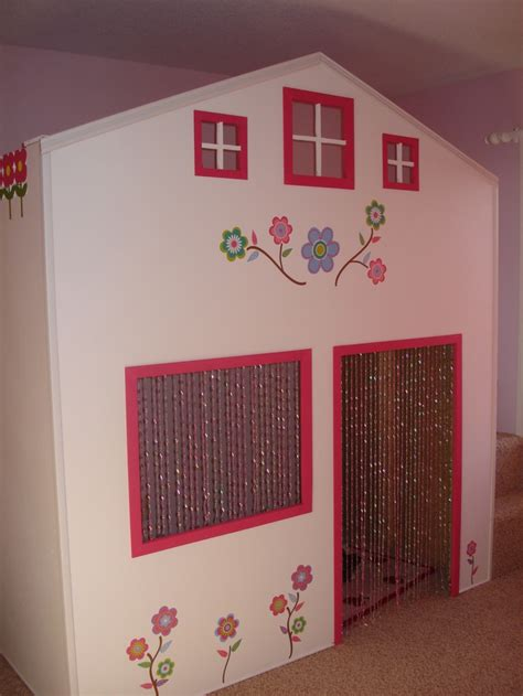 playhouse bed playhouse bed we made kids rooms pinterest playhouse