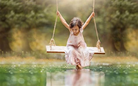 girl on a swing swings really wonderful ecuador swing 1920x1080 green