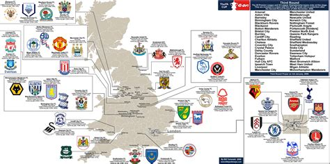 map uk football clubs where are premiere league teams located owen goal