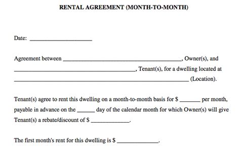 house rental agreement sample basic rental agreement in a word document for free